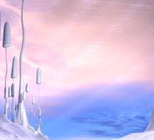 Frozen Alien Landscape Sticker