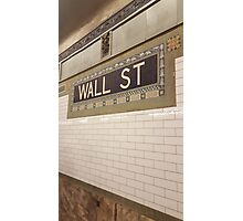 Wall St Subway Tile Photographic Print