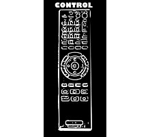 Control design in white on black Photographic Print