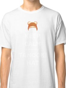 Keep Calm and wear a Tanooki Hat Classic T-Shirt