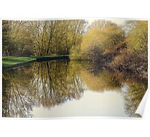 Canal Reflections In Autumn Poster