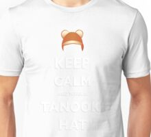 Keep Calm and wear a Tanooki Hat Unisex T-Shirt