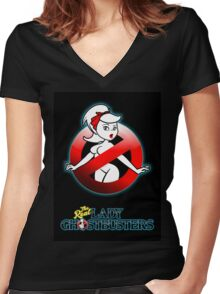 The REAL Lady Ghostbusters - Rule #63 Poster v2 Women's Fitted V-Neck T-Shirt