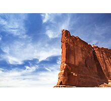 Courthouse Towers Blue Sky Photographic Print