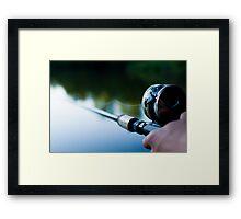 A Fishing Man Framed Print