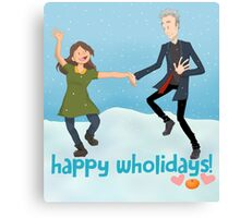 Doctor Who - Happy Wholidays Canvas Print