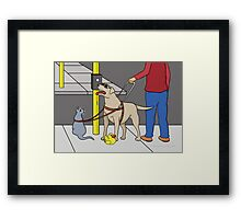 Guide Dog Guide (A Visual Gag) Framed Print