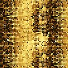 Gold & Brown Retro Disco Ball Glitter Pattern by artonwear