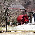 Winter at the Grist Mill by Linda  Makiej