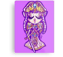 Chibi Princess Zelda Metal Print