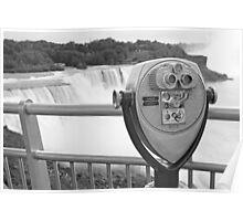 Niagara Falls Viewer B&W Poster