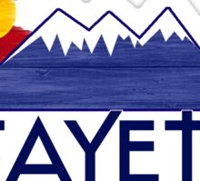 Lafayette Colorado wood mountains Sticker