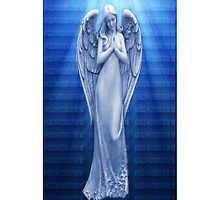 *•.¸♥♥¸.•*BLUE ANGEL RAYS OF LUV IPHONE CASE*•.¸♥♥¸.•*  by ✿✿ Bonita ✿✿ ђєℓℓσ