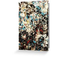 Number 101 Abstract by Mark Compton Greeting Card