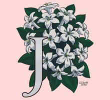 J is for Jasmine - full image Kids Tee