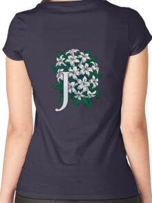 J is for Jasmine - full image Women's Fitted Scoop T-Shirt