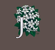 J is for Jasmine - full image Womens Fitted T-Shirt