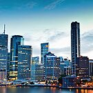 Brisbane Skyline at Dusk by liming tieu