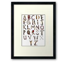 Zombie Alphabet Framed Print