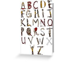 Zombie Alphabet Greeting Card