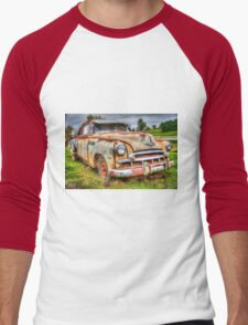 junk yard car, HDR image Men's Baseball ¾ T-Shirt