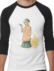 1920s Flapper Girl - Georgette 2 Men's Baseball ¾ T-Shirt