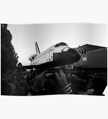 Space Shuttle on the Street II Poster