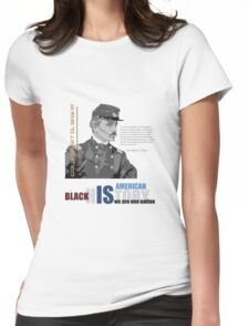 Black History Month: Col. Robert G. Shaw Womens Fitted T-Shirt