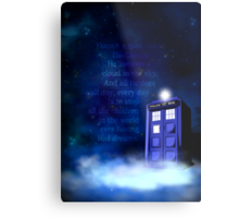 TARDIS on a Cloud Metal Print