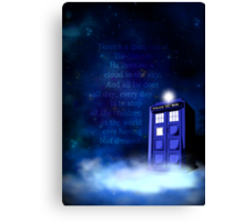 TARDIS on a Cloud Canvas Print