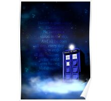 TARDIS on a Cloud Poster