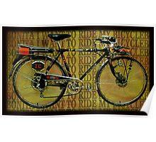 ❀◕‿◕❀ BONITAS COLLECTABLE BICYCLE ❀◕‿◕❀ Poster