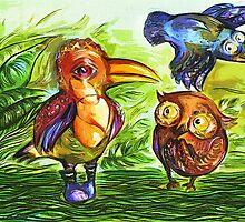 """""""Birds"""" by Tatjana Larina"""