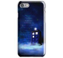 TARDIS on a Cloud iPhone Case/Skin