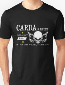 CARDA  Rule #1 i am always right. #2 If i am ever wrong see rule #1 - T Shirt, Hoodie, Hoodies, Year, Birthday T-Shirt