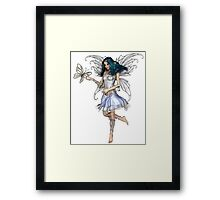 Snowflake Butterfly Fairy Framed Print
