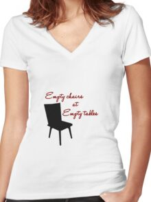 Empty Chairs Women's Fitted V-Neck T-Shirt