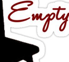Empty Chairs Sticker