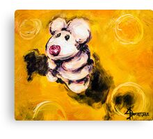 Timmy the Mouse on the Big Cheeze Canvas Print
