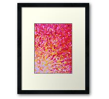 ROMANTIC DAYS - Lovely Sweet Romance, Valentine's Day Sweetheart Pink Red Abstract Acrylic Painting Framed Print