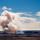 Kilauea Gas Plume by Paul Laubach