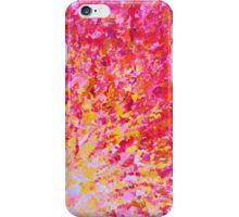 ROMANTIC DAYS - Lovely Sweet Romance, Valentine's Day Sweetheart Pink Red Abstract Acrylic Painting iPhone Case/Skin