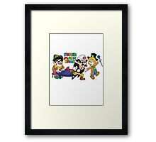 Super Marx Bros  Framed Print