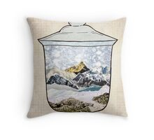 Snow Jar Throw Pillow