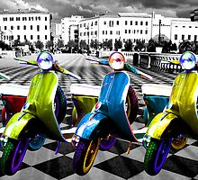 Vespa Parade  by Anthony  Poynton