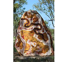 Aboriginal roadside art  Photographic Print
