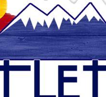 Littleton Colorado wood mountains Sticker