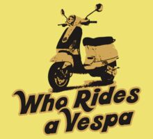 Who rides a Vespa? T-Shirt by Vojin Stanic