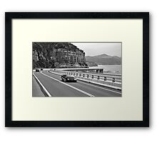 The Cliff Road North of Wollongong Framed Print