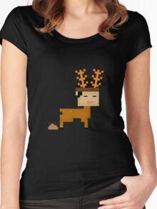 Poop  Horn Women's Fitted Scoop T-Shirt